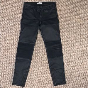 Madewell black skinny skinny jeans